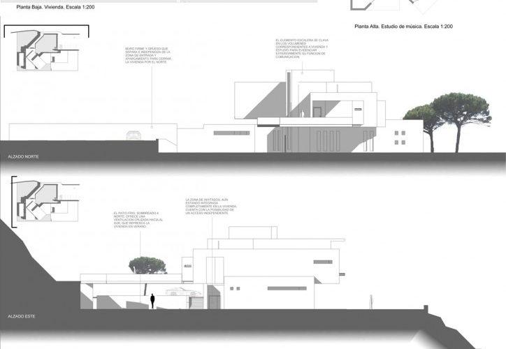 Proyecto Casa Pianista Morea Zaragoza arquitectos